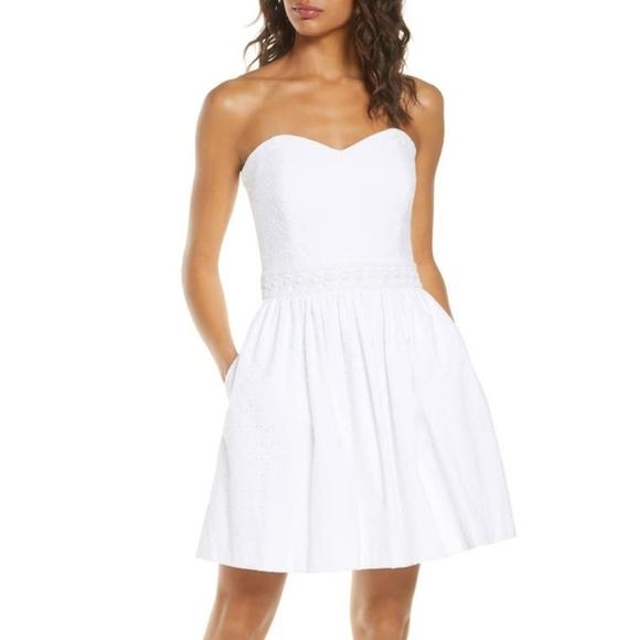 NEW LILLY PULITZER Marta Dress Resort White